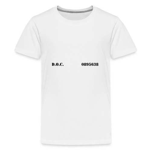 Department of Corrections (D.O.C.) 2 front - Teenager Premium T-Shirt