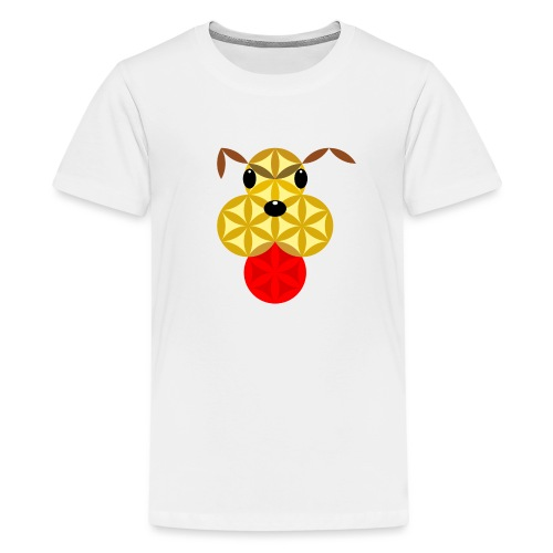 The Dog Of Life - Sacred Animals - Teenage Premium T-Shirt