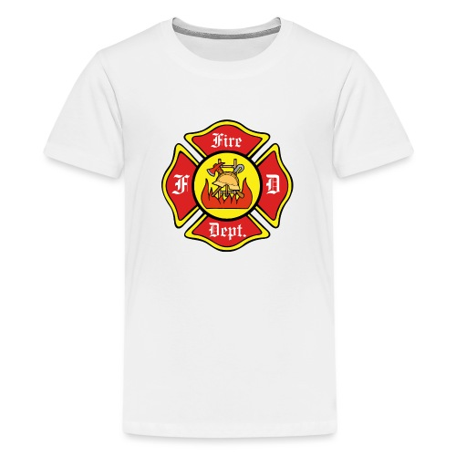 Feuerwehrschild-Fire-Dept - Teenager Premium T-Shirt