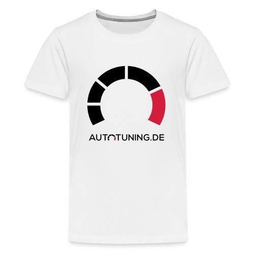 AUTOTUNING_QUADRAT_WEISS - Teenager Premium T-Shirt