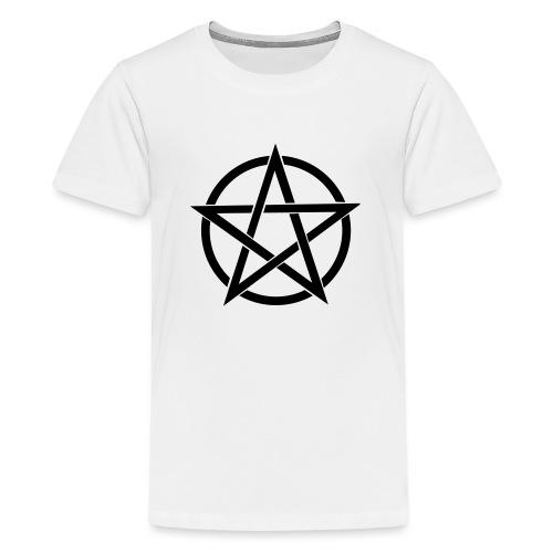 Pentagramme Wicca - T-shirt Premium Ado