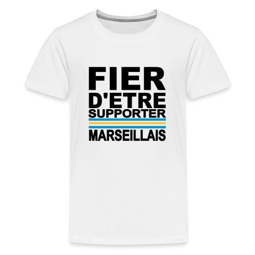 fier marseille noir 01 - T-shirt Premium Ado