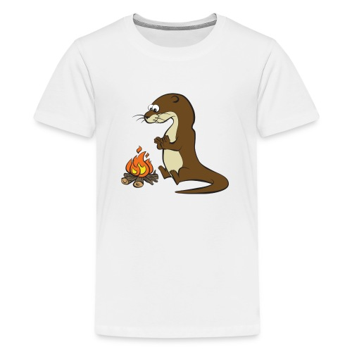 Song of the Paddle; Quentin campfire - Teenage Premium T-Shirt