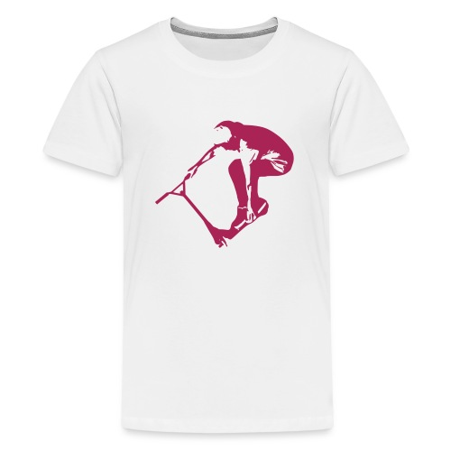 Stunt Scooter in Action 1 PINK - Teenager Premium T-Shirt