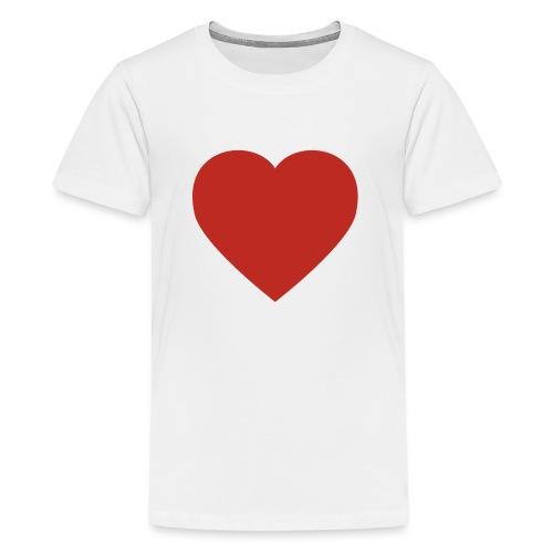 Herz Liebe - Teenager Premium T-Shirt