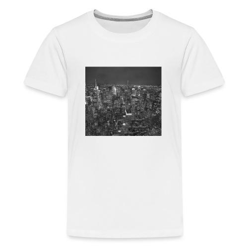 Manhattan at night - Teenager premium T-shirt