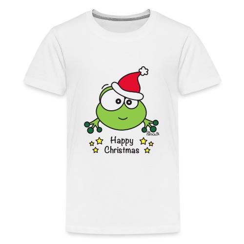 Grenouille, Frog, Fêtes Nôel, Happy Christmas - T-shirt Premium Ado