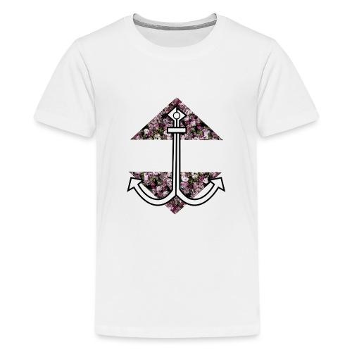 Anker mit Blumenmuster - Teenager Premium T-Shirt