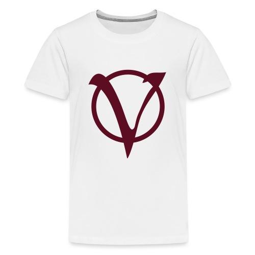 v logo100mm - Teenager Premium T-Shirt