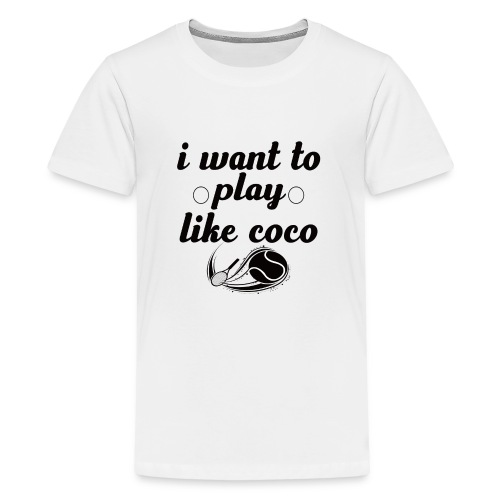 i want like coco tennis t-shirt - Teenage Premium T-Shirt