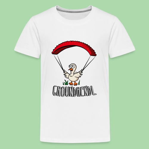 Groundhendl Paragliding Huhn - Teenager Premium T-Shirt