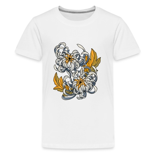 Chrysanthèmes enlacés - T-shirt Premium Ado