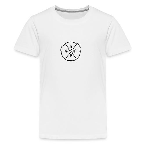 LOGO Schwarz 2 - Teenager Premium T-Shirt