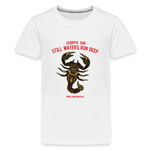 Scorpio Sun Bright - Teenage Premium T-Shirt