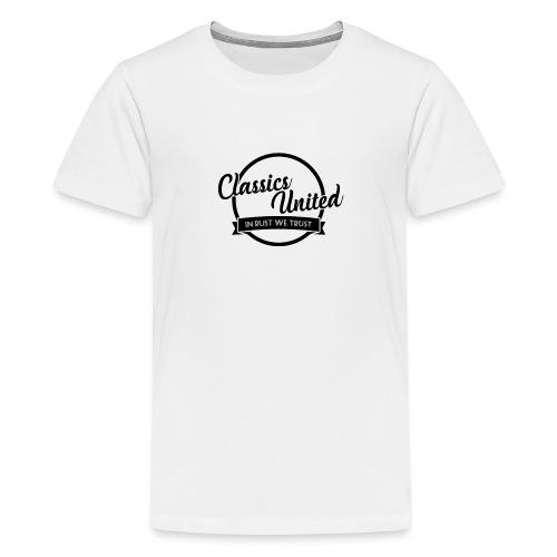 retro logo.png - Teenage Premium T-Shirt