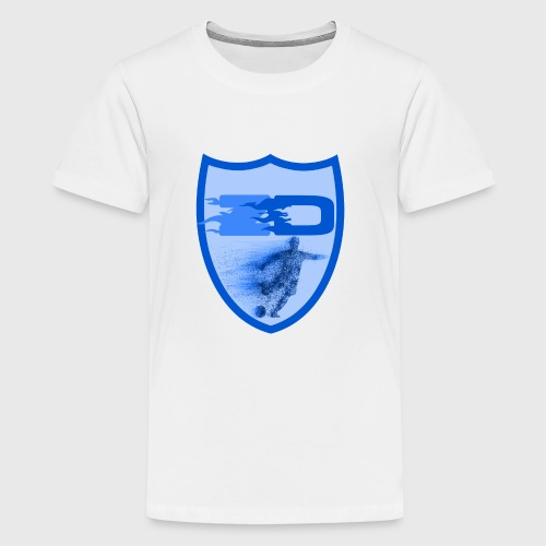J R Footballers Shield Logo - Teenage Premium T-Shirt