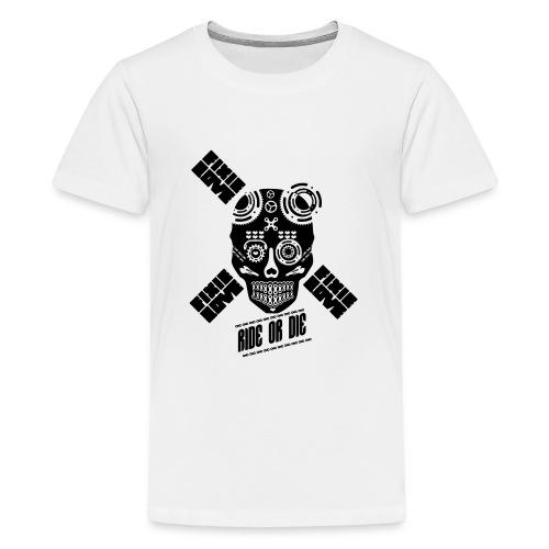 skull riding ride or die - T-shirt Premium Ado