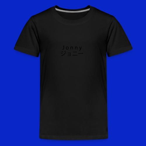 J o n n y (black) - Teenage Premium T-Shirt