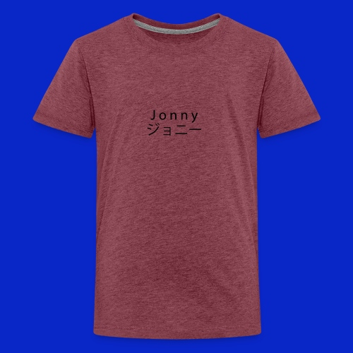 J o n n y (black) - Teenage Premium T-Shirt