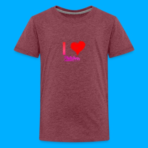 I Heart Potato T-Shirts - Teenage Premium T-Shirt