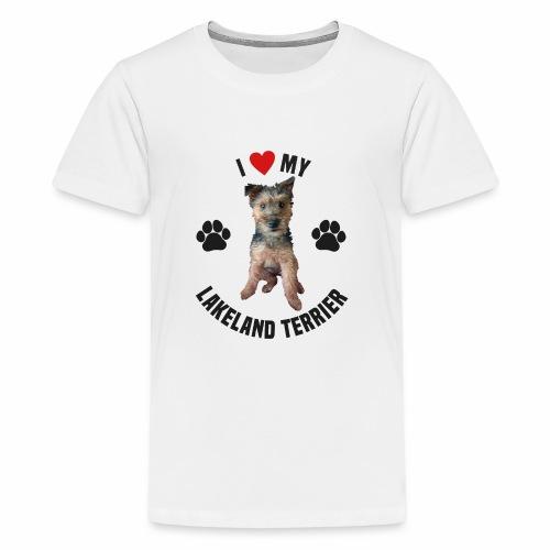 I heart my lakeland terri - Teenage Premium T-Shirt