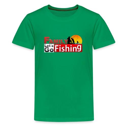 FAMILY LET´S GO FISHING FONDO - Camiseta premium adolescente