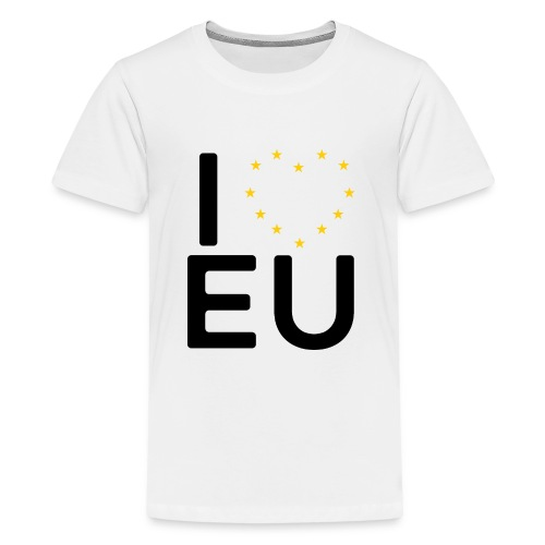 I ❤️ EU - Women's Tee - Teenage Premium T-Shirt