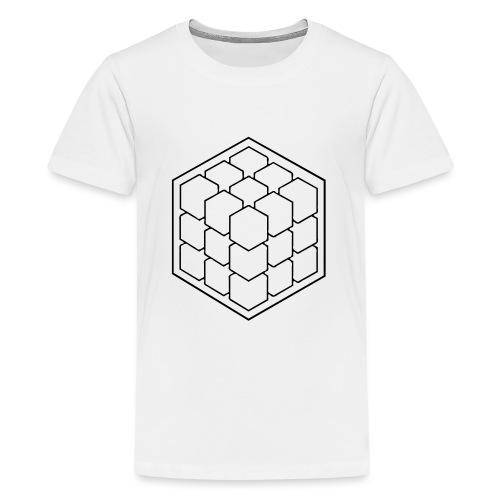 Cubik Monochrome - T-shirt Premium Ado