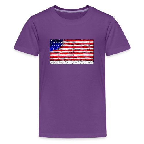Good Night Human Rights - Teenage Premium T-Shirt