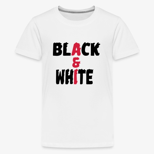 black et white - T-shirt Premium Ado