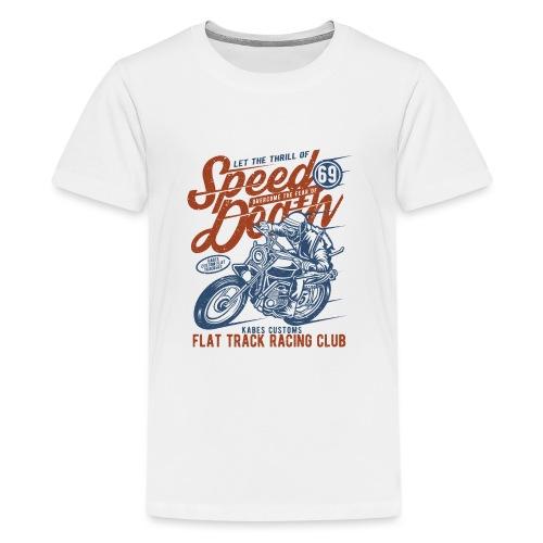 Flat Track Racing Club - Teenage Premium T-Shirt