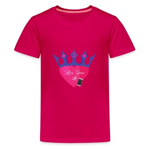 Humor Crown for real social media queens. - Teenage Premium T-Shirt