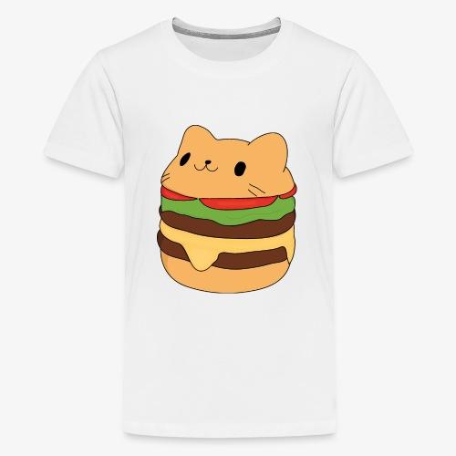cat burger - Teenage Premium T-Shirt
