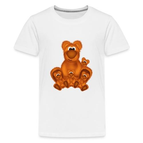 Bärige Mutterliebe - Teenager Premium T-Shirt