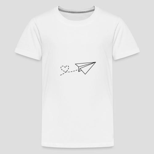 Papierflieger - Liebe - Teenager Premium T-Shirt