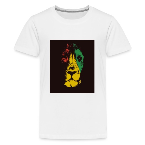 Lion Art Dreadlock Rastafari T-Shirt - T-shirt Premium Ado