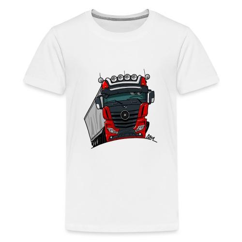 0807 M truck zwart rood - Teenager Premium T-shirt