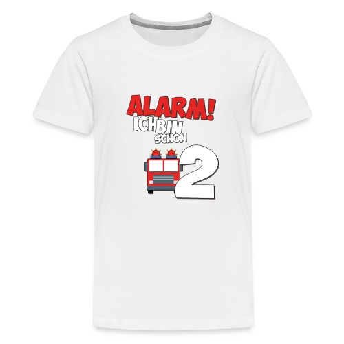Feuerwehrauto 2. Geburtstag Jungen 2 Jahre - Teenager Premium T-Shirt