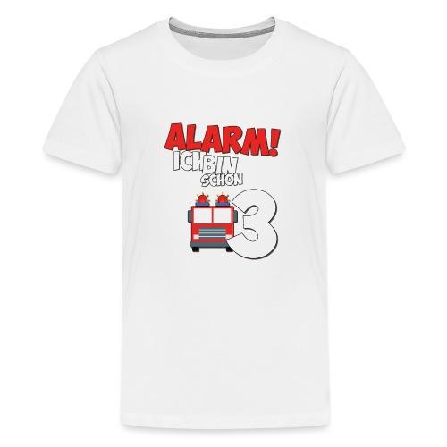 Feuerwehrauto 3. Geburtstag Jungen 3 Jahre - Teenager Premium T-Shirt