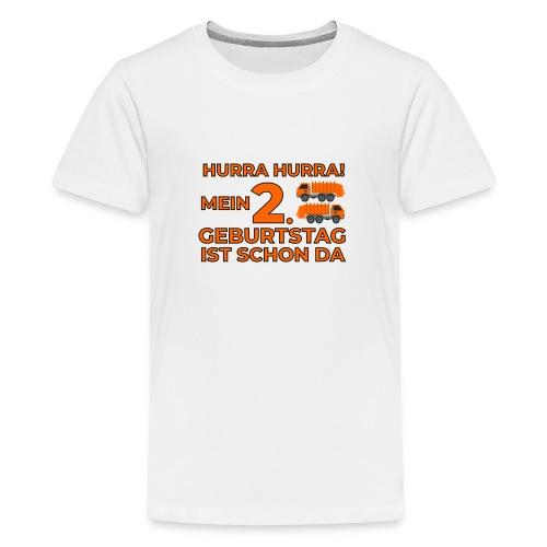 Drugie urodziny Śmieciarka - Koszulka młodzieżowa Premium