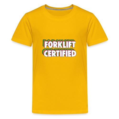 Forklift Certification Meme - Teenage Premium T-Shirt