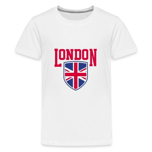 London Souvenir - London Wappen Flagge - Teenager Premium T-Shirt