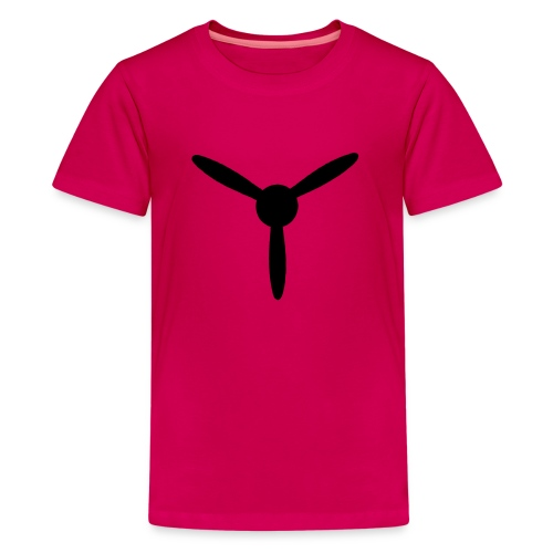3 blade propeller 1 colour - Teenage Premium T-Shirt