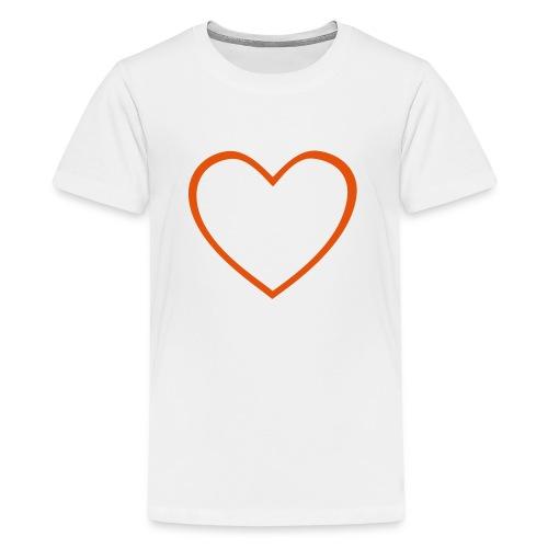 Hjärta 4 - Premium-T-shirt tonåring