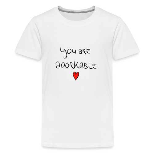 adorkable - Teenage Premium T-Shirt