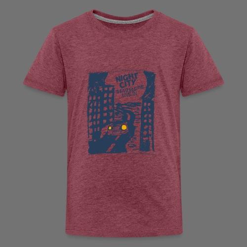Night City - maailma, jossa elämme - Teinien premium t-paita