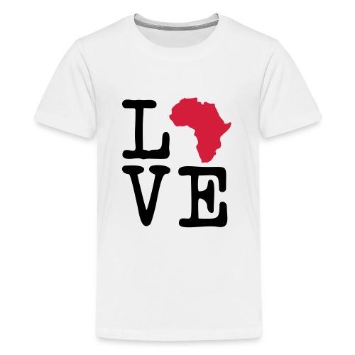 I Love Africa, I Heart Africa - Teenage Premium T-Shirt