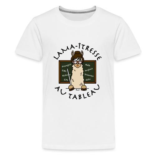 Lama-îtresse, tableau, maîtresse, cadeau, vacances - T-shirt Premium Ado