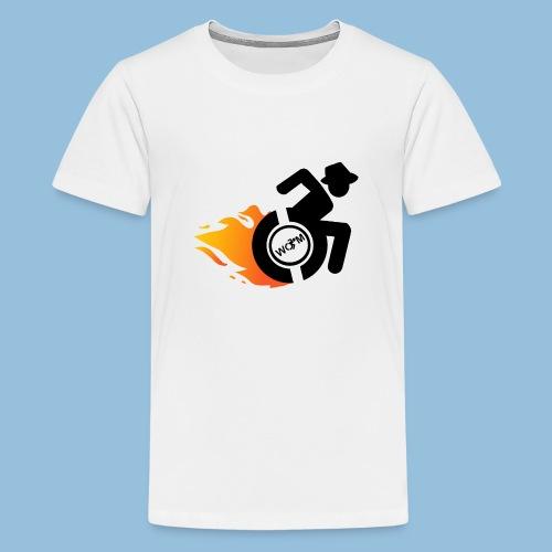 Roller met vlammen 014 - Teenager Premium T-shirt
