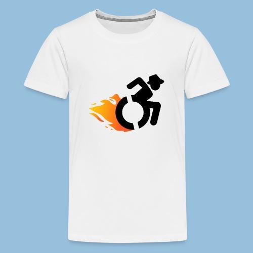 Roller met vlammen 016 - Teenager Premium T-shirt